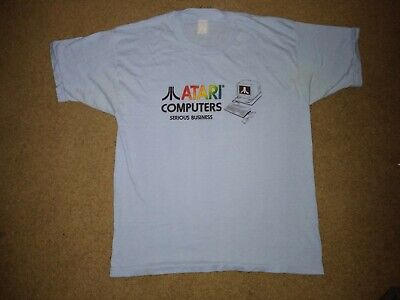 Vintage 80's Atari Computers T Shirt Large video game console pac man