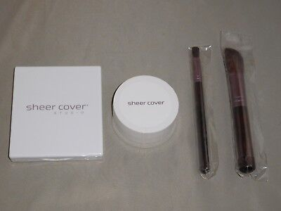 SHEER COVER FACE PALETTE & SUN KISSED BRONZING MINERALS & 2 FREE BRUSHES SEALED
