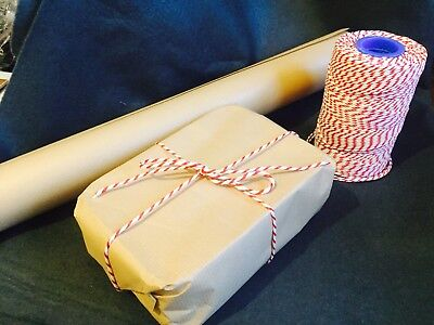 30 Metres Bakers Twine 2 Ply - Red And White - String - Christmas