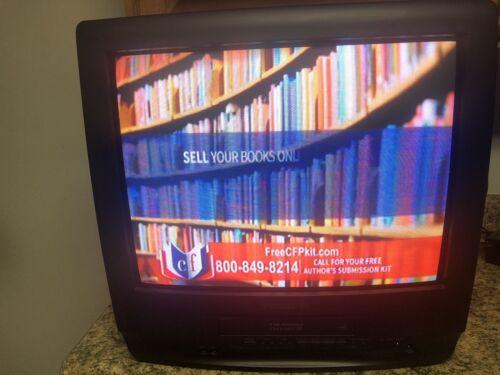 "Panasonic PV-C2023 20"" Color CRT TV/VCR/FM Combo Retro Gaming No Remote/PreOwned"