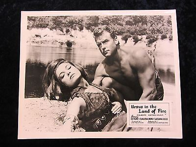 Ursus In The Land Of Fire lobby card - Ed Fury, Claudia Mori