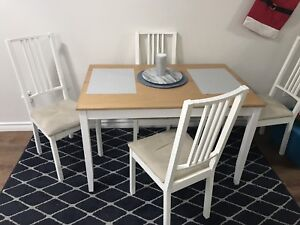 PRICE DROP! IKEA table and chairs must go- moving!
