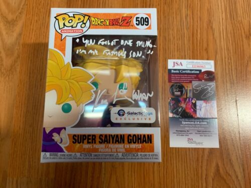 "Funko Pop Autographed Kyle Hebert Dragonball Z ""Super Gohan"" Actor JSA EE96965"