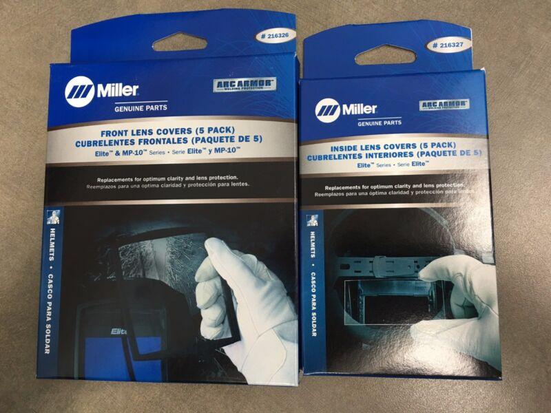 Miller 216326 & 216327 Outside & Inside Cover Lens Plates 5 packs Elite MP-10