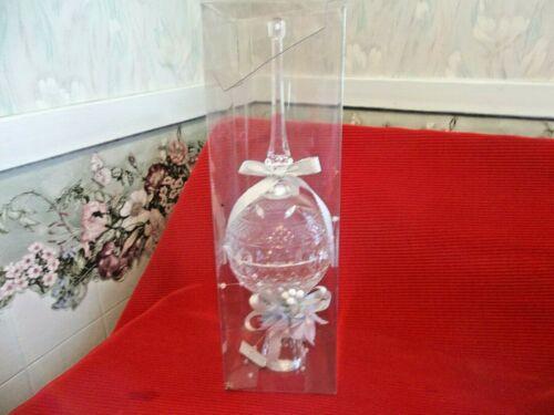 "Kurt Adler  11.5"" Tall  Clear Acrylic Pressed Glass Look Victorian Tree Topper"