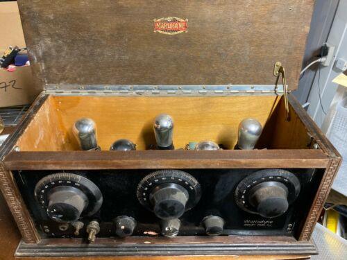 Antique Marlow Marlodyne 5 Tube Radio 1920