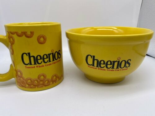 2002 Official Cheerios Coffee Mug & Bowl