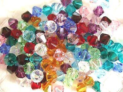 120 pc. SWAROVSKI CRYSTAL BIRTHSTONE MIX 6mm Loose Beads Bicones 12 Colors