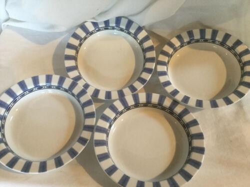 Parisian Blue by Dansk Soup Bowls Set of 4