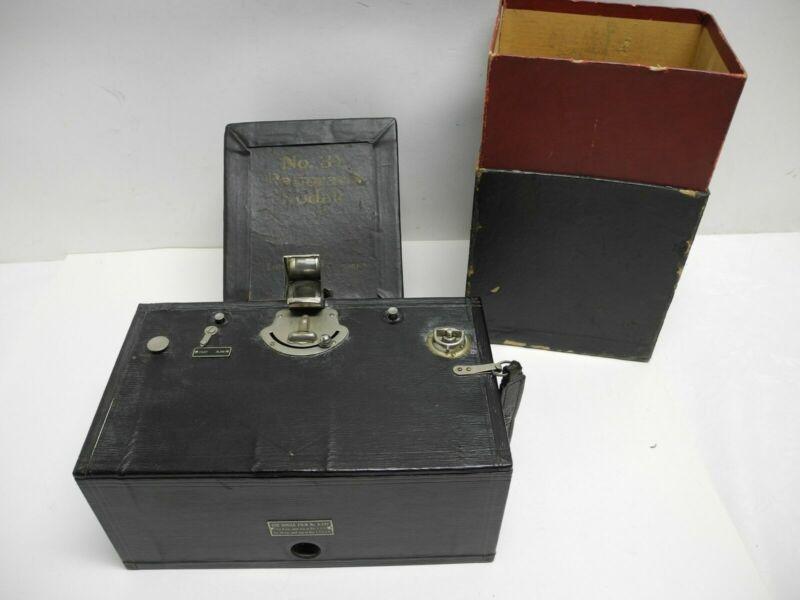 Antique 1914 Kodak No. 3A Panoram Box Camera with Original Box Nice Condition