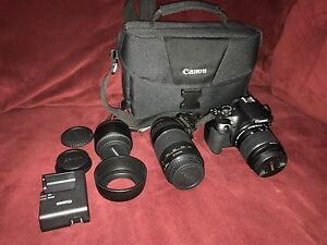 Canon Rebel t6 DSLR camera package - like new