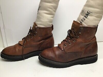 VTG WOMENS DOUBLE-H WORK BROWN BOOTS SIZE 10 M