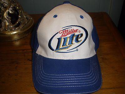 KURT BUSCH Miller Lite Racing HAT Brand New Blue White NASCAR