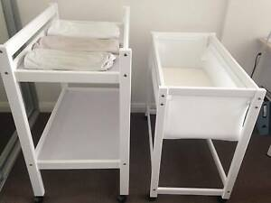 Tasman Bassinet + Changing Table +3x fitted covers Silverwater Auburn Area Preview