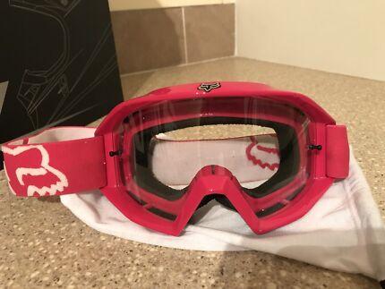 Fox racing goggles hot pink