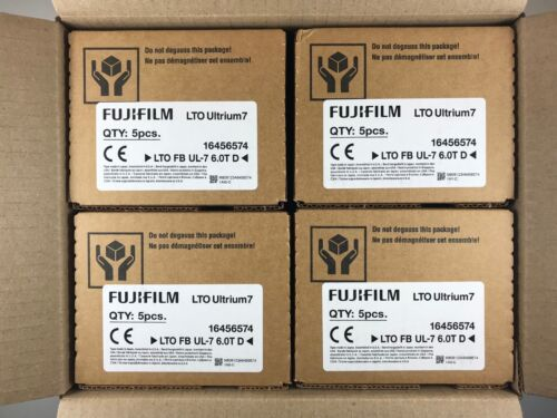 NEW- FUJI LTO7 TAPE CARTRIDGE (20 PACK) Ultrium 6.25TB BACKUP STORAGE- #16456574