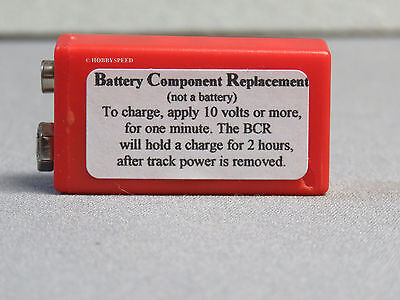 MTH BCR BATTERY COMPONENT REPLACEMENT FOR PS1 PS2 ENGINES W 9 VOLT BATTERIES NEW