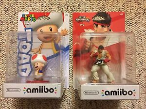 Unopened Toad and Ryu Amiibo for Sale