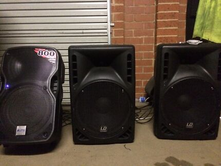 "Ld systems 15"" powered dj speakers Hampton Park Casey Area Preview"
