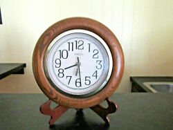10 Spartus Quartz Wall Clock - Wood and Glass