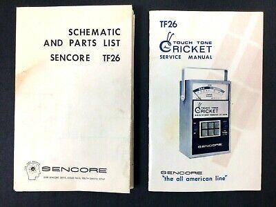 Sencore Tf26 Cricket Transistor Tester Service Manual Parts List Schematics