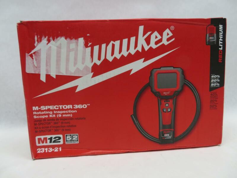 Milwaukee 2313-21 M12 12V M-Spector 360 Inspection Camera 3 Foot Kit