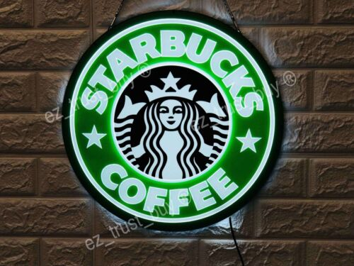 New Starbucks Coffee Bar Lamp Decor LED 3D Neon Sign 16""