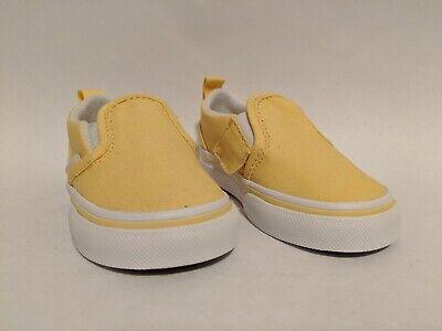 Vans New Slip-On V Golden Haze/True White Vault Toddler Size USA 5