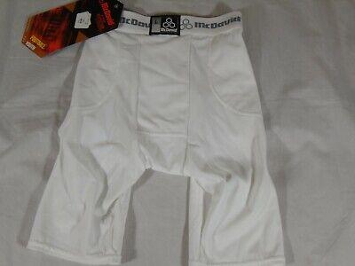 New Youth McDavid 5 Pocket Compression Football Girdle Shorts White L XL 750YT