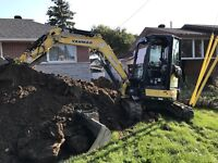 Excavation drain fissure