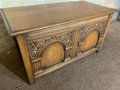 Solid Oak Coffer Chest Blanket Chest Box Coffee Table Delivery Available