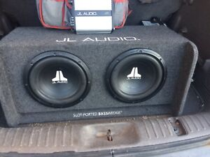 "JL Audio 2 12"" subs In ported bass wedge"