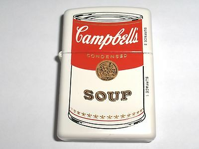 Zippo Campbell's Soup Can Sales Salesman Sample White Matte 1999 Lighter New