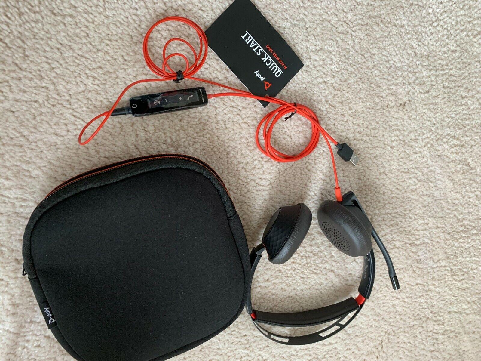 Poly Blackwire 5200 Series C5220t USB Headset - Black - $54.99