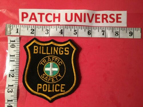 VINTAGE BILLINGS TRAFFIC SAFETY POLICE  SHOULDER PATCH  S025