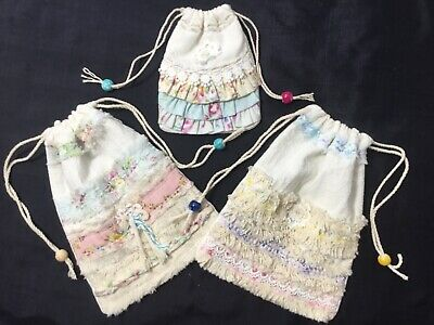2 small HM Fiber~Artsy flour sack gift pouches 1 Bitty GReat 4 soaps, cards, etc