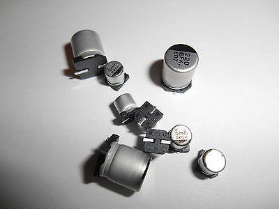 10 Pcs 22uf 50v Aluminum Electrolytic Capacitor Smt Smd Us Seller Fast Ship