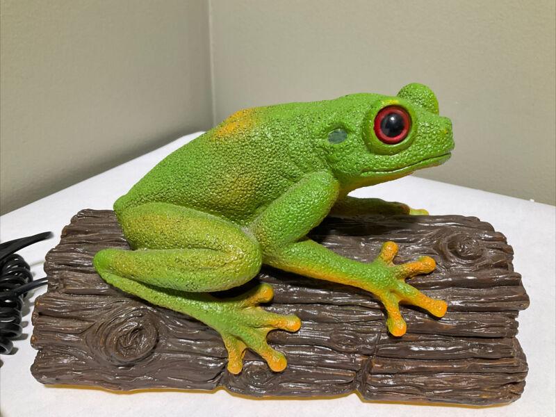Retro Vintage Rainforest Tree Frog Landline Phone Ribbit Ring Telemania WORKS!