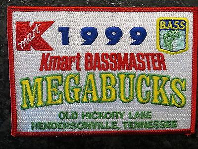 Rare Vintage Bassmaster Tournament Patch 1999 Tennessee Megabucks