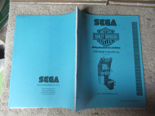 original HARLEY - DAVIDSON SEGA STD TYPE arcade video game owners manual