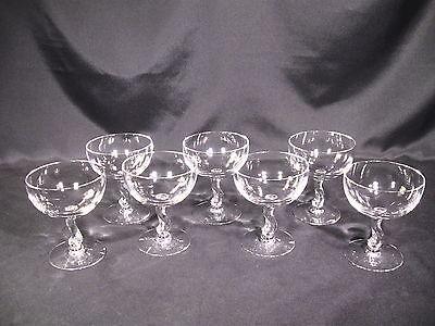 Fostoria Contour 6060 Champagne/Sherbet Glasses  Lot of 7