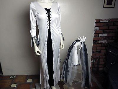 Fun World Skeleton Bride #1056 Adult Halloween Costume Women's Small/Medium 2-8 - Skeleton Bride Costume