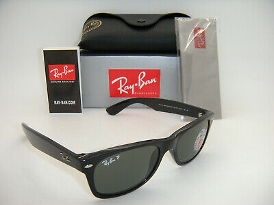 New Authentic Ray-Ban RB 2132 901/58 52MM Shiny Black / Green Crystal Polarized (Rb2132 901 52)