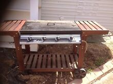 BBQ on wooden trolley Woodcroft Morphett Vale Area Preview