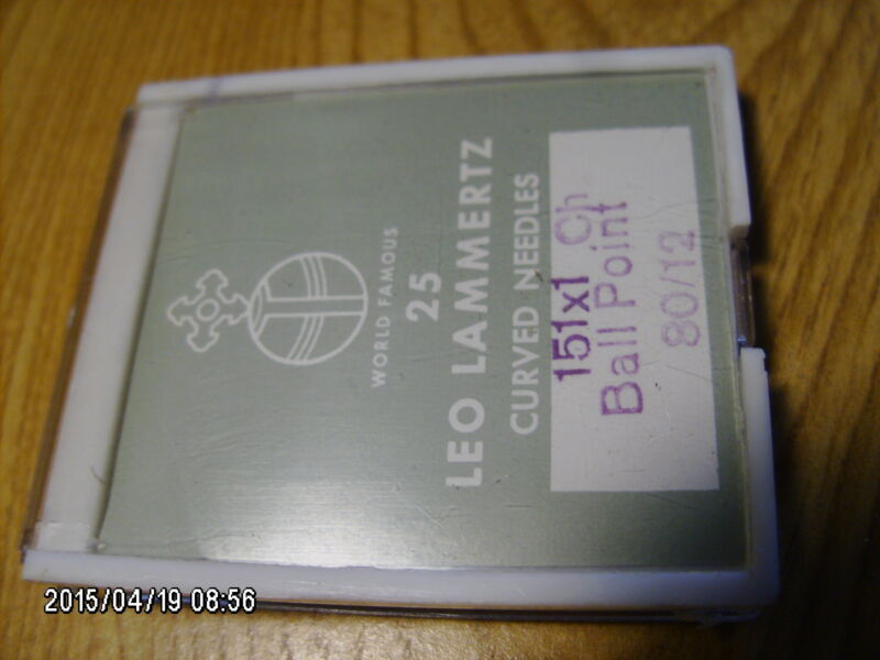 25 pc pack LEO LAMMERTZ 151x1 Ch Ball Point 80/12 sewing machine needles