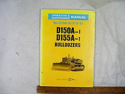 Komatsu D150a-1 155a-1 Operation Maintenance Manual 5508-