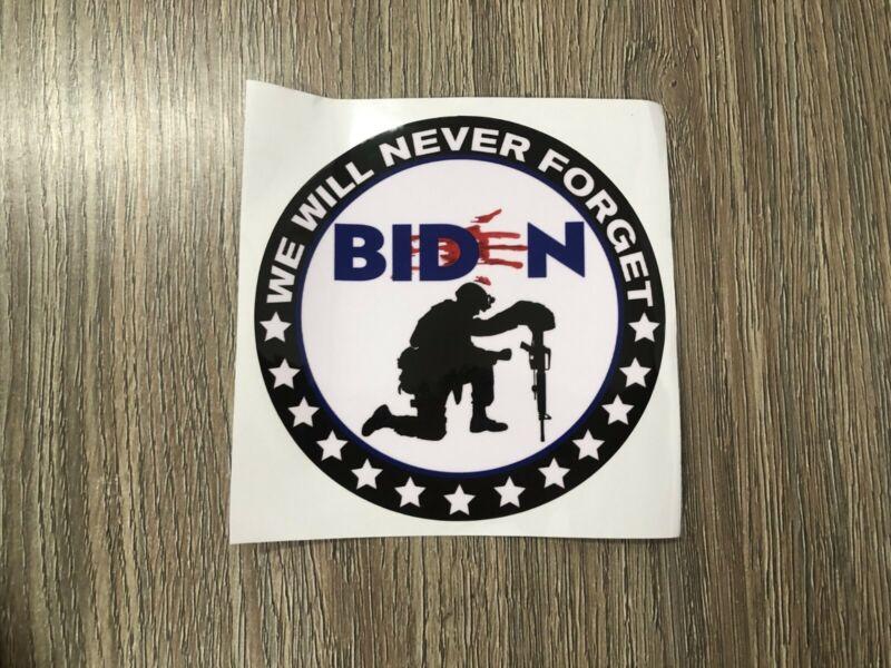 ANTI- BIDEN  Bloody Hand NEVER FORGET-13 Stars TRUMP 2024. IMPEACH BIDEN!!!