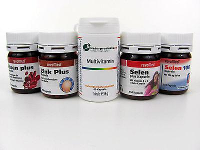 Eisen 100 Kapseln (revomed, NP24 Mineral Kapseln Tabletten, Eisen,  Selen 100, Multi, Zink Plus)