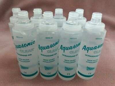 8 Pack Parker Labs Aquasonic Clear Ultrasound Gel 8.5oz 0.25 L Bottles Ea New