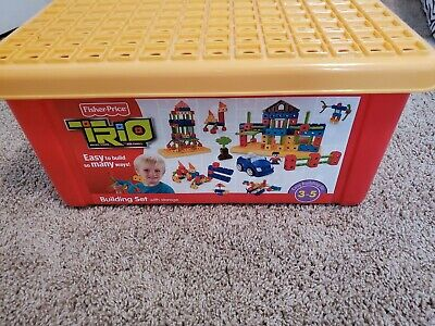 Fisher Price TRIO Building Block Set with Storage Box